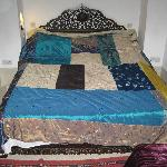 lovely wide bed with fab cover