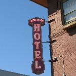 Cool old hotel sign