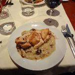 Chicken with Wild Mushroom Risotto