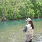 Fishing at the low water bridge