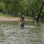 Releasing a catch in Zone 2