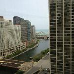 View of Lake Michigan (and some of Navy Pier) from my room