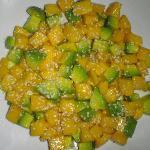 Deliciouse mango-avocado salad.