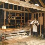 Room displaying old tools to keep mill working
