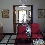 Inside house.