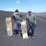 Volcano boarding.