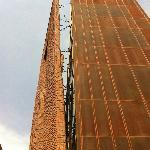 hanging brick facade