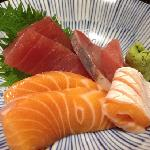 fresh and thick sashimi