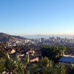 unsere Zimmeraussicht auf Kapstadt