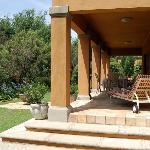 Terrasse eines Bungalows