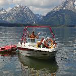 skiing on jackson lake