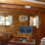 the living room of the cabin