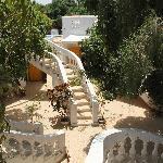 les escaliers des bungalows