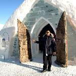 entrance to an igloo