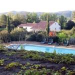 vista della piscina dalla camera