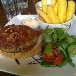 Homade Chicken Burger & Chips..