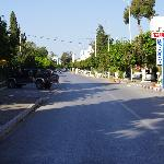 Road in front of hotel