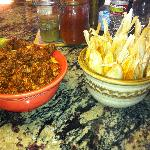 pork adobado and tamales