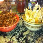 pork adobado and tamales
