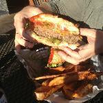 Main Street Burger w/Cheese cut