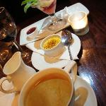 Some Café Rouge delights - note the completely civilized size of the Crème Brulée!