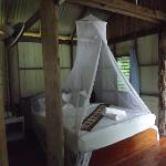 this is how all the beds are/ mosquitto nets