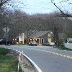 View of the Bee Hive Tavern driving along historic Route 6A