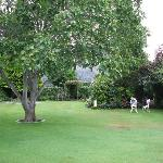 Lawns and gardens were immaculate.