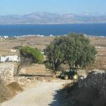 View to Naxos Island on the hills above Golden Beach