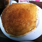 Huge pancake that took up the whole plate!