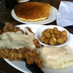 Chicken Fried Steak with Mash Taters and Okra!