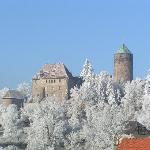 Burg im Winter