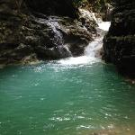 One of the natural pools, one hour walk from the property, is worth it.