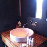 sink + nice bath products