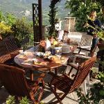 Terrazza dove si può fare colazione