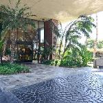 Rain or shine, you'll have shade covering as you arrive to the Lobby.