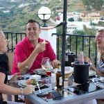 Dinner on the stunning terrace