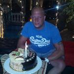 Nick and his cake