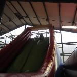 Huge inflatable slide