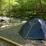 Our campsite on the Little River