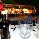 Los ajies y tomates desde nuestra mesa