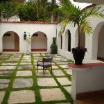 Courtyard with guest rooms