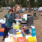 Pancakes for Breakfast at The Pines, Mt. Arapiles
