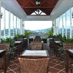 Roof top cafe bar