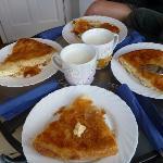 Traditional serbian breakfast on the balcony