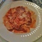 Light and airy ravioli filled with spinach and ricotta with fresh tomato sauce.