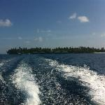view from the boat to island