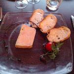 Foie gras canard chutney rhubarbe