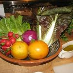 Fresh produce at the cooking class
