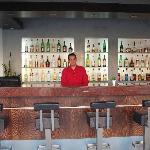Bar area (with Nick the barman)